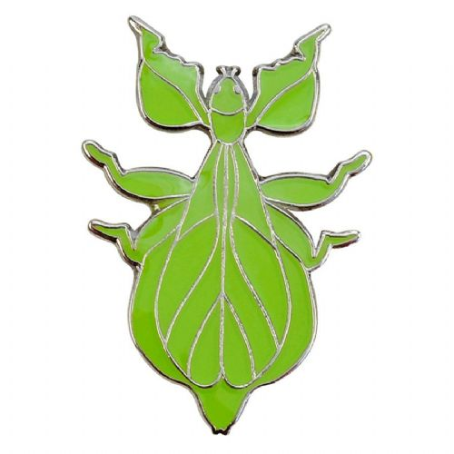 Blue Bug Pin Badge, Walking Leaf